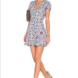 Lovers + Friends cassidy spring geo mini print NWT
